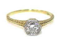 Sixth Sense -Antique Diamond Solitaire Ring