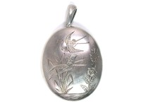 Aesthetic Sterling Silver Locket Pendant
