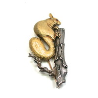 Buccellati Squirrel Brooch, 18kt & Sterling
