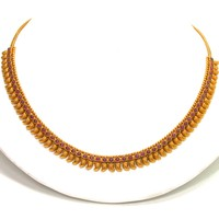 22kt Gold and Ruby Necklace