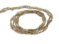 Rare Very Long Victorian 14kt Chain