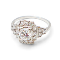 Deco 1.25 carat Diamond Ring