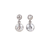 Platinum & 1.65ct Diamond Drop Earrings