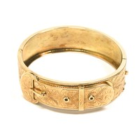 Victorian Rose Gold Bangle Bracelet