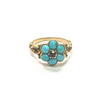 Antique Victorian Turquoise Forget-Me-Not Ring