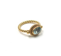 Luna Felix 18kt & Aquamarine Stacking Ring