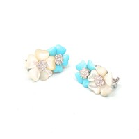 Mother of Pearl, Turquoise Earrings