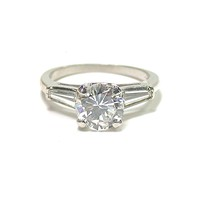 Magnificent 1.45 ct Diamond  Platinum Ring