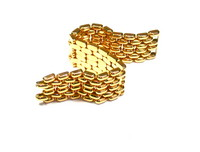 18kt Rose Gold Brickwork Link Bracelet