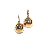 15kt Gold Orbs in a Drop Earring