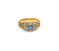 14kt Gold, Sapphire and Diamond Ring