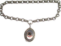 Antique Sterling Silver Bookchain with Locket