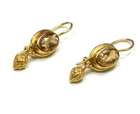 18kt Citrine Acorn Drop Earrings