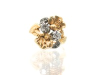 Art Nouveau Floral Delight in a Ring