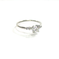 Brilliant Platinum Diamond Ring