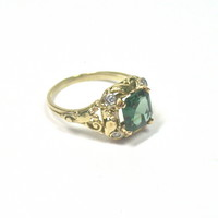 Arts & Crafts Tourmaline Ring