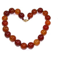 Chic and Fabulous Carnelian Bead Necklace