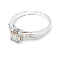 Elegant .64ct Diamond Solitaire Ring in Platinum