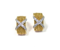 Tiffany & Co Schlumberger 18kt & Diamond Earrings