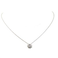 Paloma Picasso for Tiffany Platinum Diamond Daisy Pendant Necklace