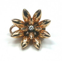 Bold & Fantastic Retro Flower Brooch