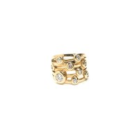 Modernist 14kt Diamond Ring