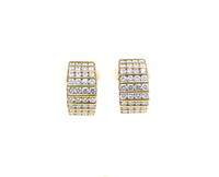 Channel Set Diamond Earrings 4 Carats