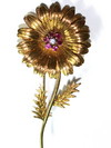 Tiffany & Co 18kt, Ruby & Diamond Flower Pin