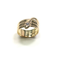 Antique Snake Ring with Diamond Head